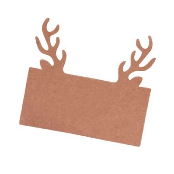 Kraft Stag Antler Place Cards